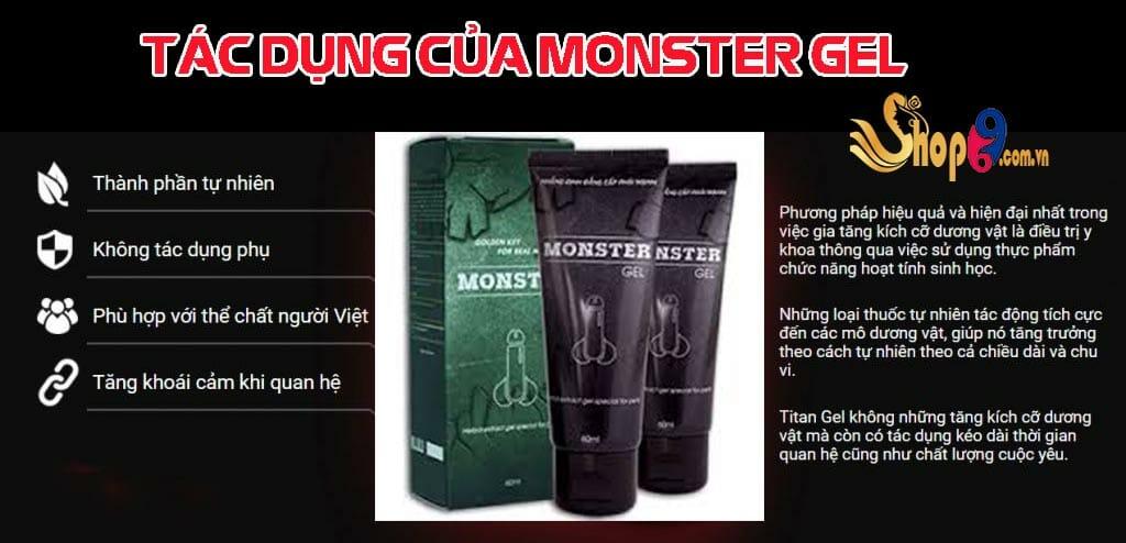 tác dụng của monster gel