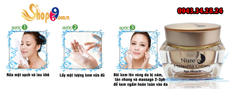 cách sử dụng nure'o melasma