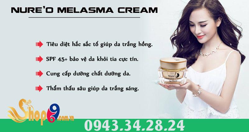 công dụng nure'o melasma