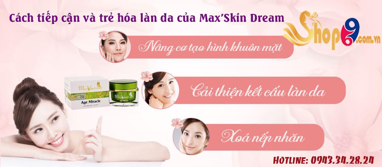 công dụng của kem max'skin dream