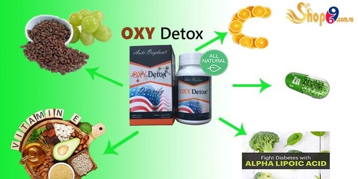 oxy detox, thành phần oxy detox