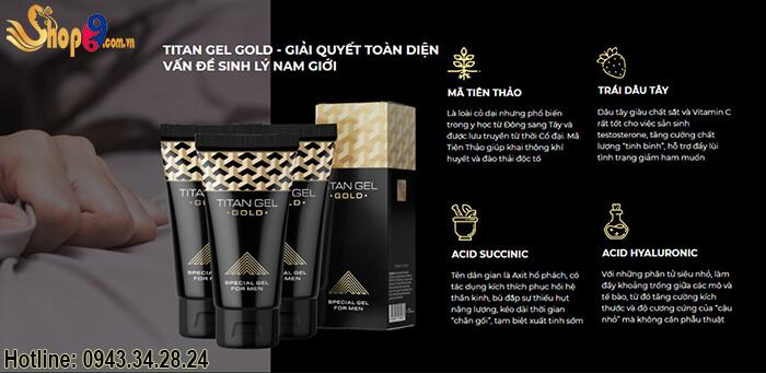 thành phần titan gel gold