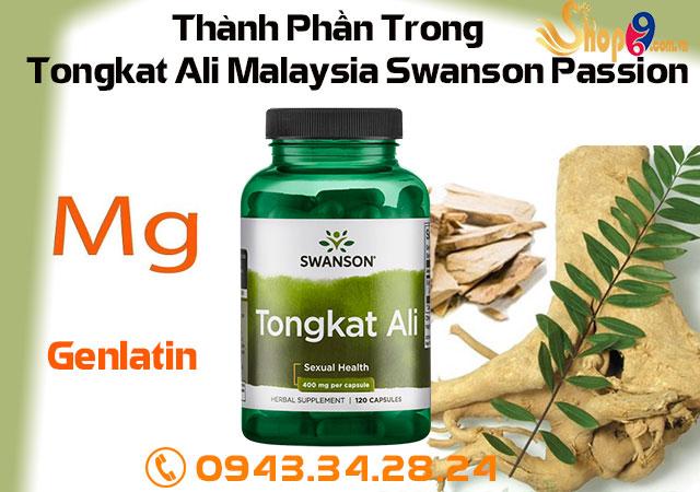 Tongkat Ali Malaysia Swanson Passion thành phần