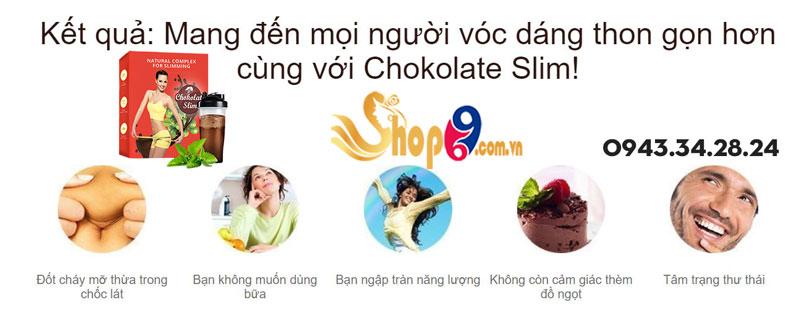 kết quả dùng chokolate slim