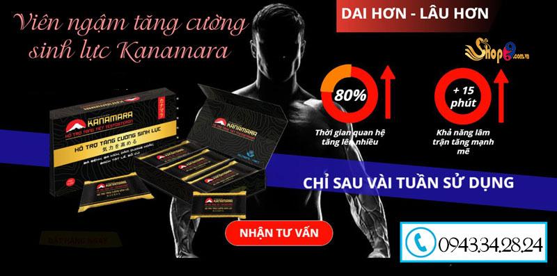 Công dụng Viên ngậm tăng cường sinh lực Kanamara