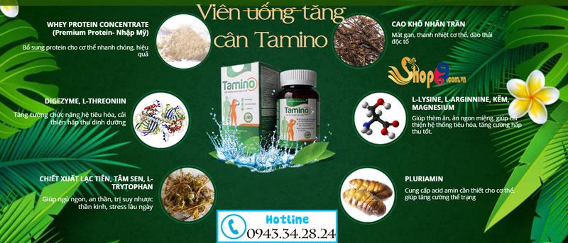 Thành phần Viên uống Tamino