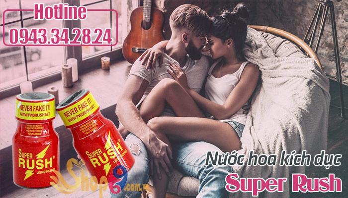 Nước hoa tình yêu Super Rush thêm nhiệt huyết phòng the