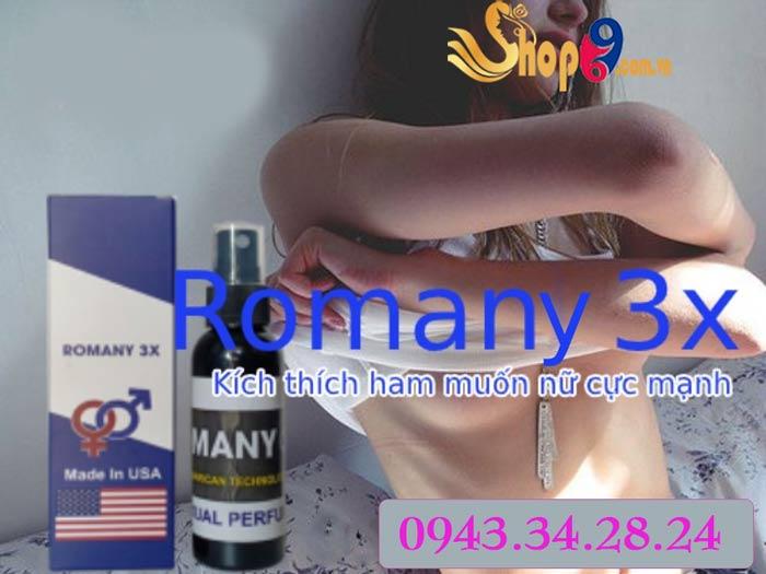 Nước hoa tình yêu Romany 3x tăng khoái cảm tình ái nam và nữ