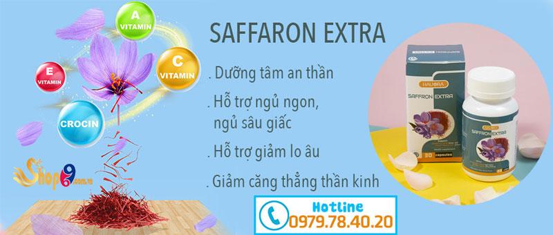 Công dụng viên uống dưỡng tâm an thần Hauora Saffron Extra